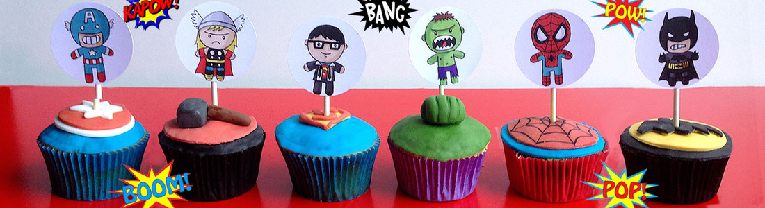Marvel cupcakes homepage