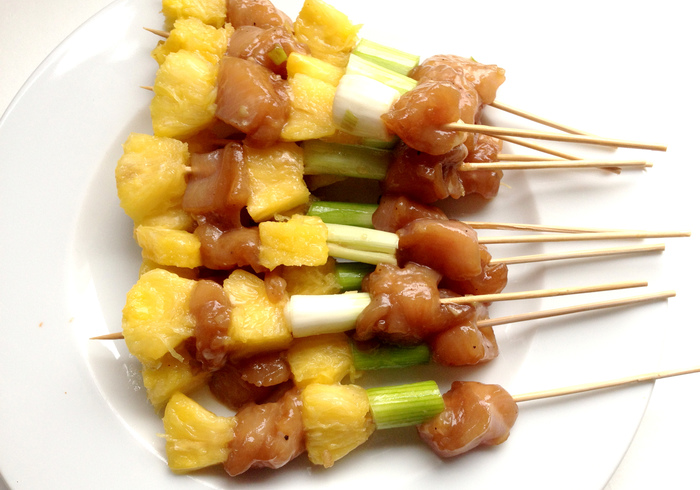 Chicken skewers 11