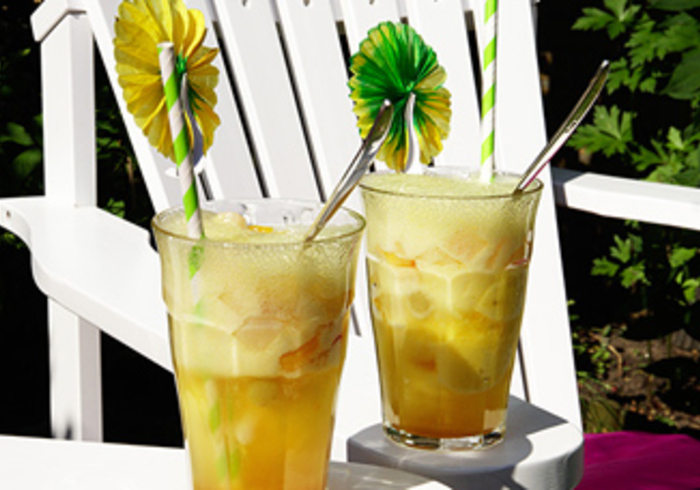 Mango Sorbet, een kids mocktail